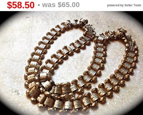 Summer Sale Vintage chain necklace vintage chain gold tone necklace