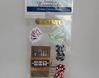 Sandylion Essentials Casino stickers, new in wrapping