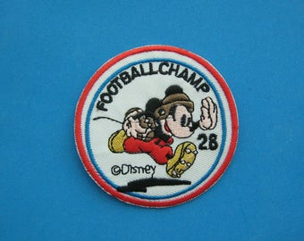 Iron-on Embroidered Patch Mickey Football Champion 2.75 inch