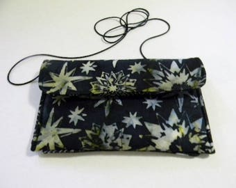 Black Stars Batik Hip Bag