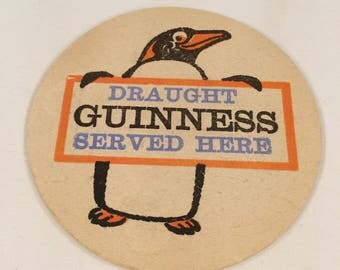 Vintage Retro Guinness Beer Mat Quarmby 189 circa 1960s Pub Bar Man Cave Accessories