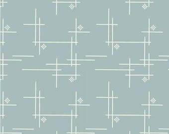 Organic Canvas Fabric - Birch Merryweather Canvas- Merry Hatch in Dusk Mineral Canvas