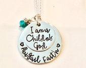 Child of God Necklace, I Am a Child of God, LDS Baptism Gift Idea, Baptism Necklace, LDS Gift, LDS Baptism Necklace Ctr necklace