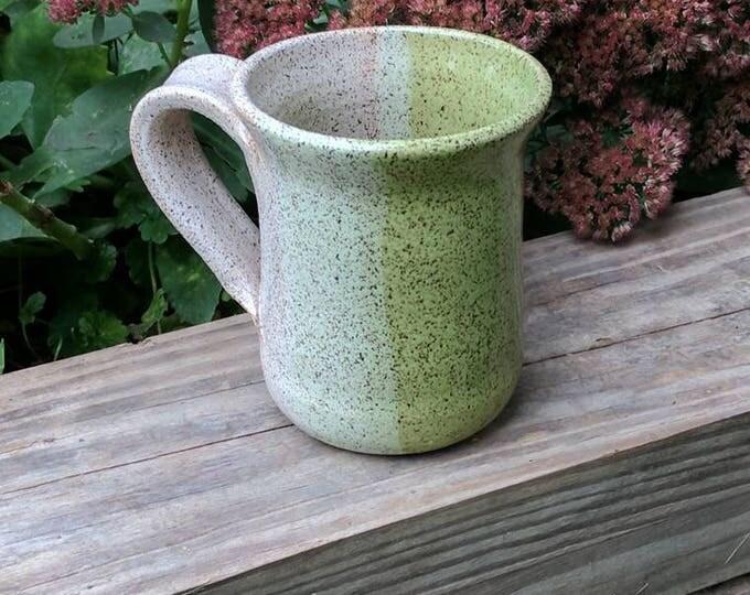 Coffee Mug in Lime & White
