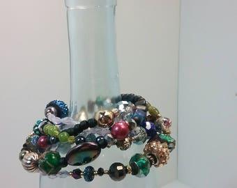 Dragon Layering Necklace Rainbow Quartz Wrap Bracelet