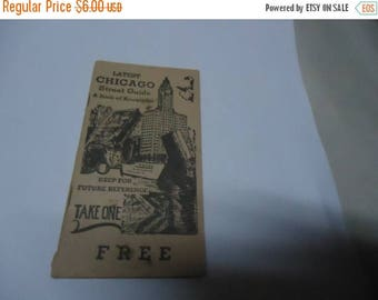 Ephemera & Books 50% Sale Vintage 1950's Latest Chicago Street Guide A Book Of Knowledge, collectable