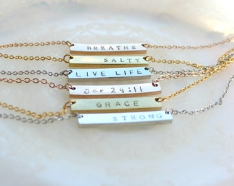 Personalized Bar Necklace. Minimal Necklace. Wholesale Necklace. Wholesale Jewelry. Bridesmaid Gift. Gold Necklace. Gold Bar Necklace.