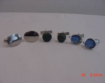 3 Sets Of Vintage Cuff Links  17 - 732