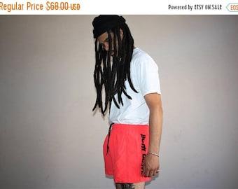 On SALE 35% Off - 1990s Vintage Body Surf Neon Surfer Beach Swim Trunk Shorts - 90s Clothing - MV0396