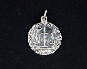 Zodiac Medallion Libra in Sterling Silver