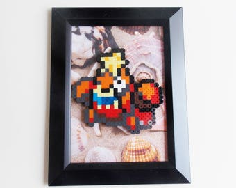 Crawdaunt (Pokemon) Framed Pixel Sprite Room Decoration Art *Clearance*