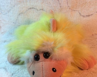 15% OFF 1992 Dakin Shagasaurs Plush Dinosaur Toy Stuffed Animal Yellow HTF