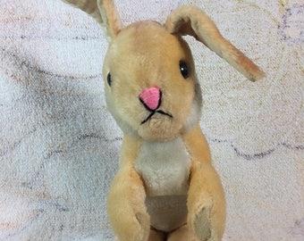 SUMMER SALE Vintage Dakin Bunny Rabbit Plush Stuffed Animal with Velcro Paws Hugging Bunny Easter Kids Toys