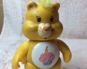 SUMMER SALE 1980s Care Bear Posable Figure Hong Kong PVC Birthday Bear