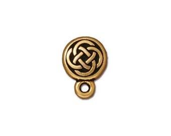 Gold Tierracast Celtic Circle Posts
