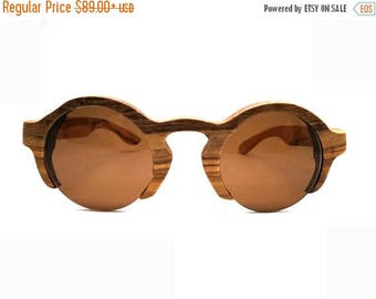20% off SUMMER SALE 20 Percent off SUMMER Sale  olive wood semi-rimless round Mjx1704  customized handmade prescription sunglasses