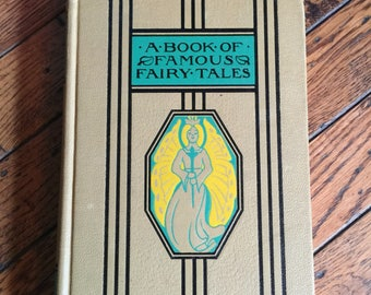 Vintage 1938 A Book of Famous Fairy Tales Young Folks Library Knaap