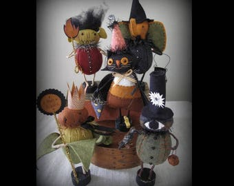 Trick or Treaters Group 5 E-PATTERN by cheswickcompany