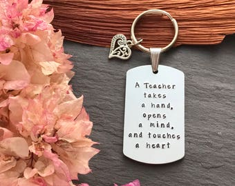 Personalised teacher gift - Teacher Keyring - End of Year Teacher Gift - Gift for Teacher - Teacher Christmas Gifts - Teacher