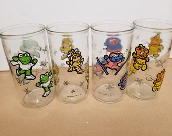 Set of 4 Muppets Tall Jelly Glasses
