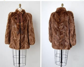 30% OFF SALE vintage 1940s coat / 1940s fur coat / 40s Richland Furs jacket / Amandine coat