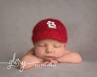 Baby baseball hat, baby boy photo hat, custom baby gift, baseball baby clothes, newborn photo prop, baseball baby shower gift, baseball cap