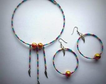 Trinity Matching Choker & Hoop Earrings Set