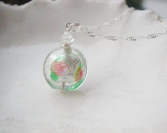 Murano Glass Handpainted Necklace