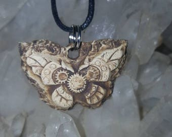 Steampunk Butterfly Essential Oil Diffuser Necklace