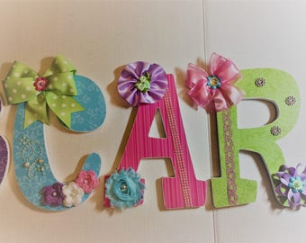 Custom Nursery Wall Letters, Decorative Letters