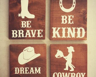 Cowboy Wall Art Etsy