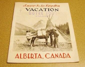1930s Booklet Vacation Hotel York Calgary Alberta Canada Travel