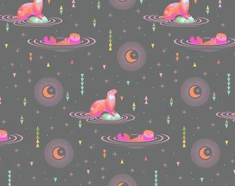 Free Spirit Tula Pink Spirit Animal Starlight Otter & Chill Fabric - 1 yard