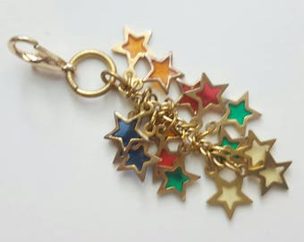 Gold stars, metal stars, planner accessories, travelers notebook accessories, charms, planner charms, silver planner charm, cute charm