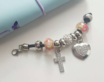 Cross planner charm-cross charm-planner charm-travelers notebook accessories-charm-planner accessories-cute charms-TN Charm
