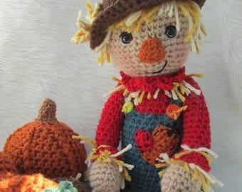 Summer Sale Crochet Pattern Scarecrow by Teri Crews instant download PDF format Crochet Toy Pattern