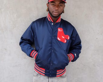 90s Starter Boston Red Sox Baseball Satin Jacket