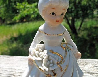 Sweet Little July Birthday Girl Figurine  Circa 1950s