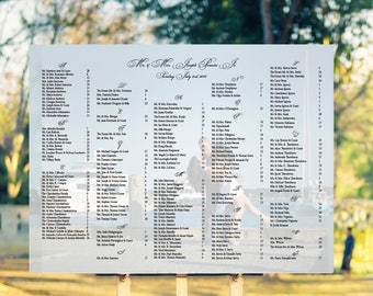 Photo Wedding Seating Chart, Wedding Seating Poster, Wedding chart, Seating Chart