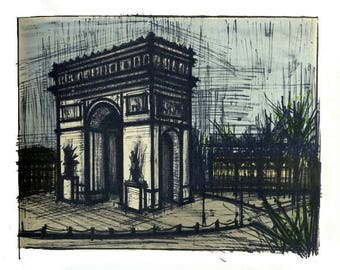 MCM French Art / Mid Century Bernard Buffet Bernard Buffet / Paris L'arc de Triomphe 42