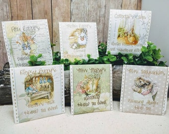 NEW Mother Rabbit's Tea Favors - 6 flavors - PETER RABBIT party favors - Beatrix Potter tea party - Organic Herbal Tea Favors