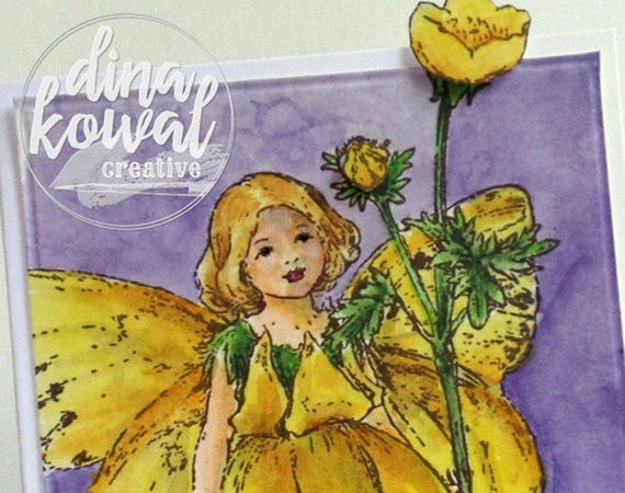 handmade greeting cards - Thank You Buttercup Fairy