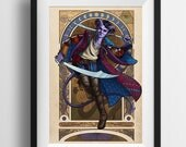 Critical Role - The Magnificent Bastard - Print - Dungeons and Dragons Mollymauk Art Nouveau