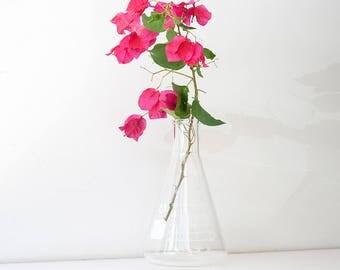 Vintage Bomex Erlenmeyer Flask - Lab Glass Vase