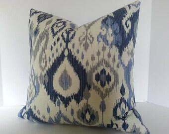 Blue Gray Pillow Etsy