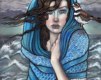 The Sea Priestess goddess fantasy art fine art print