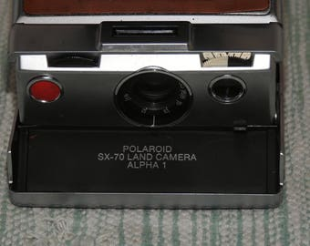 Vintage Historical Polaroid SX-70 Alpha 1 With Case...1970's...Very Collectible...Instant Pictures...Made By Dr. Edwin Land...Ansel Adams