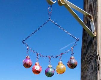 Gazing balls garden ornaments patio ornaments painted ornaments tie dye sun catcher brockus creations