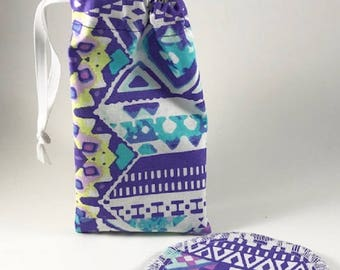 Purple Menstrual Cup Bag, Menstrual Cup Pouch, Menstrual Cup Holder
