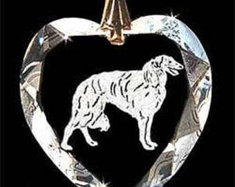 Borzoi dog Jewelry Custom Crystal Necklace Pendant, Suncatcher with any Animal or Name YOU Want, Gift, Dog Lover, Handler